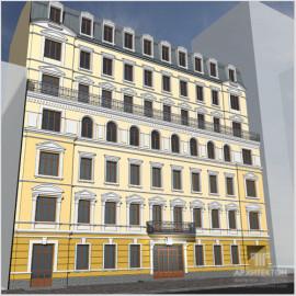 Проект реконструкции гостиницы по улице Ярославов Вал, г.Киев