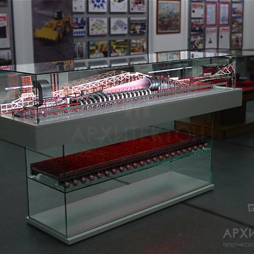 3Д макет на прозрачной подставке с подсветкой