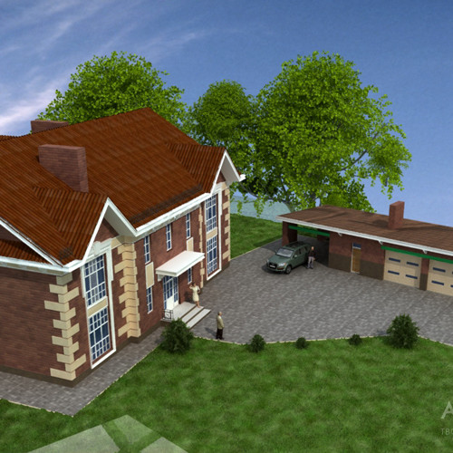 Architectural project of the manor in the village of Novoselki, Kiev region