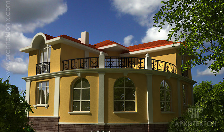 Architectural design of the cottage