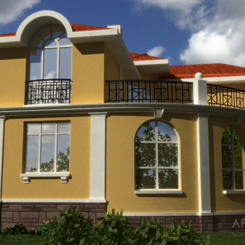 Architectural project of the cottage