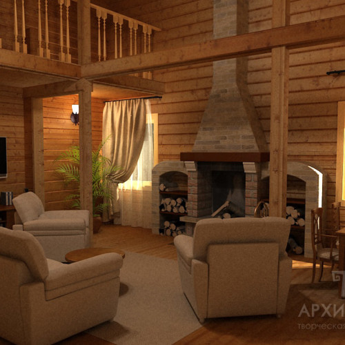Visualization of a cottage interior design project
