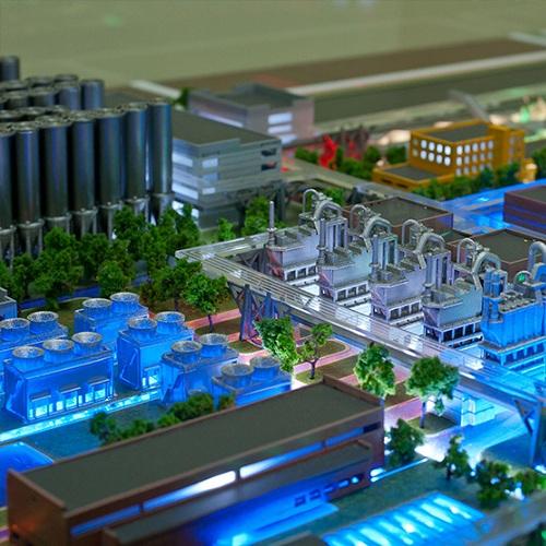 изготовление 3Д макетов  заводов и элеваторов