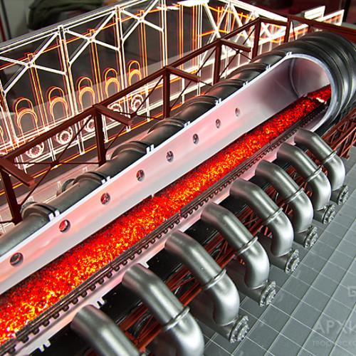 Макет розрізу обпалювальної машини для музею
