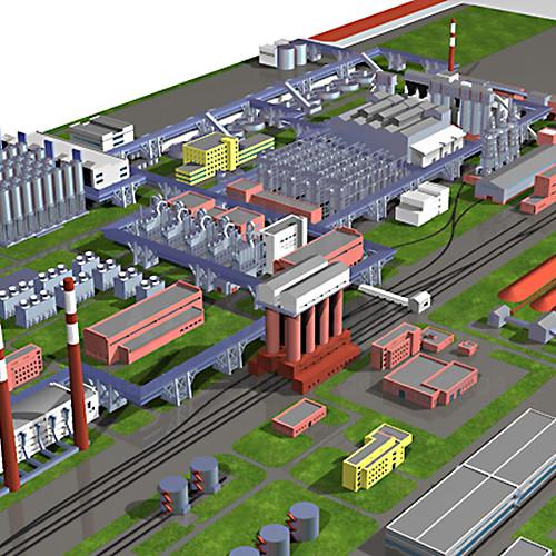 виготовлення моделі для 3Д друку макета заводу