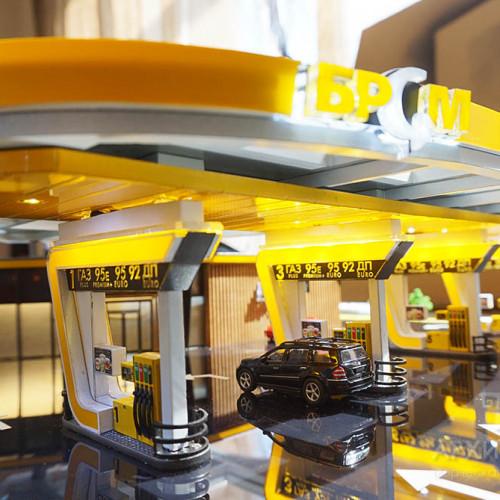 3D макет АЗС, на заказ, Киев