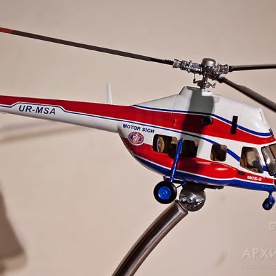 Масштабная модель вертолета МСБ-2, (ремоторизированный МИ-2)