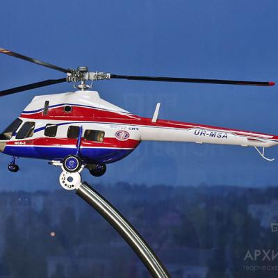 Выставочная модель вертолета МСБ-2