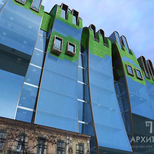 Концепція бізнес-центру по вулиці Нижній Вал