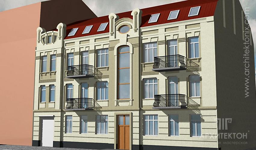 Проект надстройки мансардного этажа в офисном здании