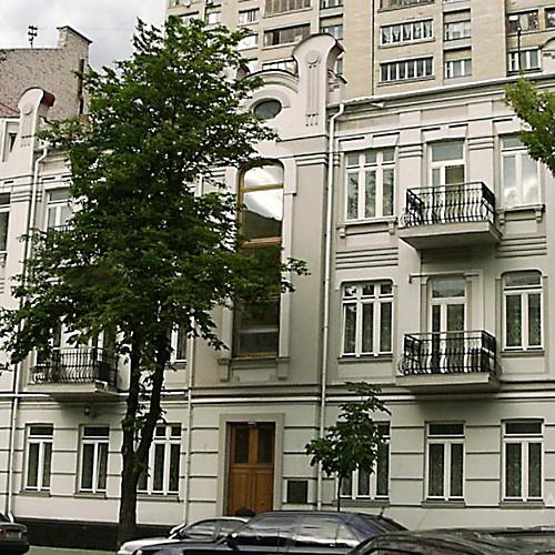 Фотография застройки по улице Горького в городе Киеве