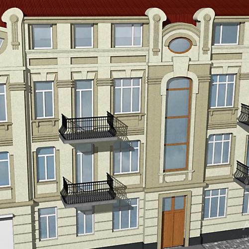 Проект надстройки мансардного этажа в офисном здании. Киев