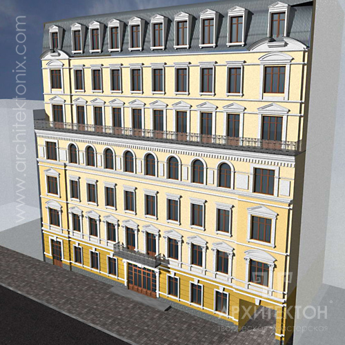 Project of reconstruction of an apartment house