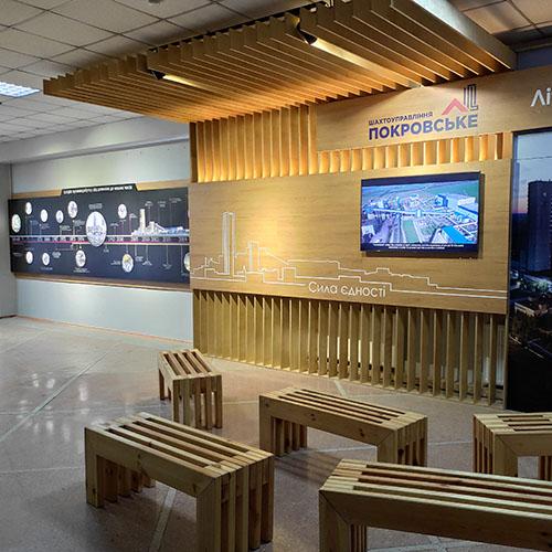 проектування корпоративних музеїв монтаж експозицій