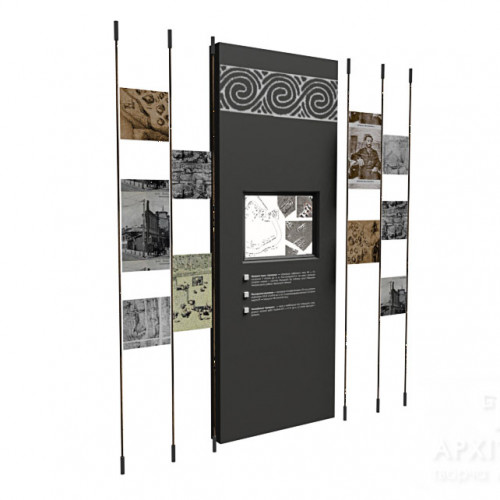Модульний стенд з сенсорним дисплеєм для музея