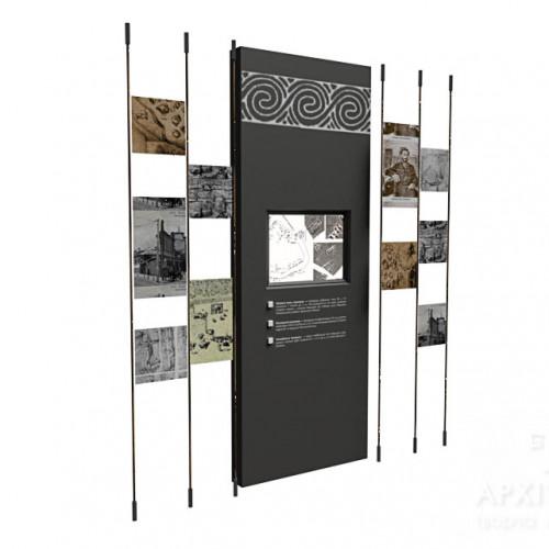 модульный стенд для музея
