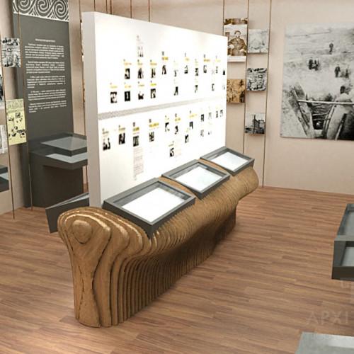 Оформление интерьера музея Хвойки