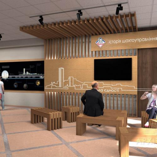 "Design of museum of the mine ""Pokrovskaya"", 3D graphics"