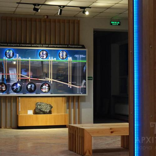 Интерактивное панно с подсветкой в Музее Покровск, Украина