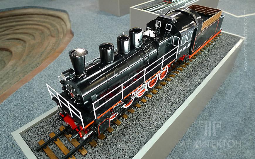Модель паровоза Ем 727-55, масштаб 1:20