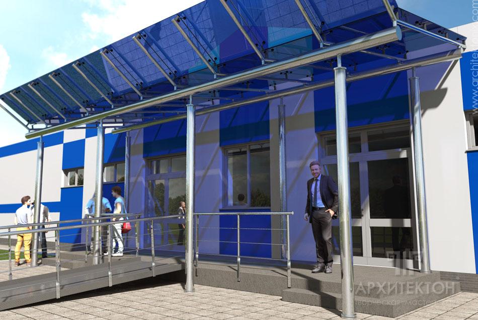 виготовлення візуалізації адміністративного корпусу