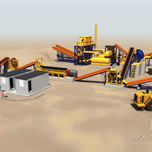 Order visualization of ore mining and processing equipment
