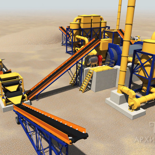 3D graphics of the industrial site project