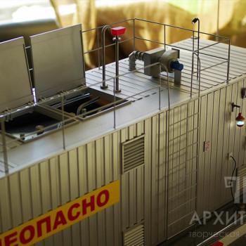 Макет автоматической контейнерной автозаправочной станции АКАЗС-7