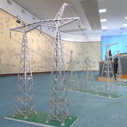 Макет линии электропередачи 750 кВ в помещении центрального диспетчерского зала НЭК «Укрэнерго» в Киеве.