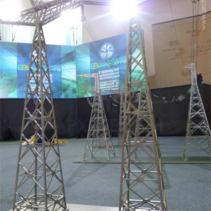 Макет ЛЭП на презентации начала строительных работ.