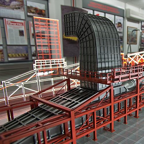 3Д макет обжиговой машины на заказ