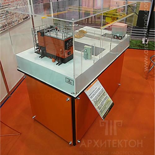 Макет котельной на стенде фирмы Kriger, XХVI Международная выставка Аква-Терм-2014 г.Киев