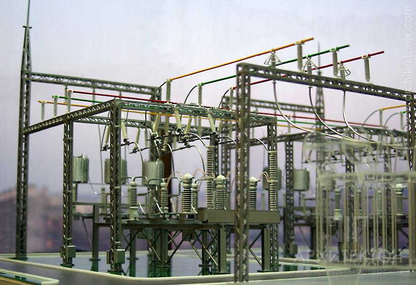 3D print ScaleModel of substation 110 kV