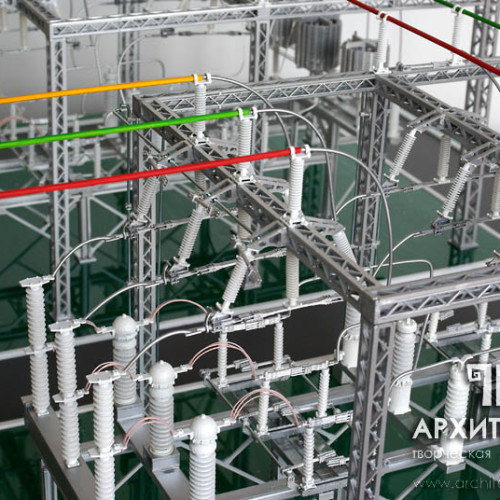 1:30 scale Exhibition model of substation