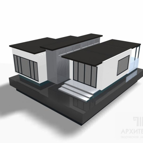 Предварительная визуализация макета дома, для согласования с клиентом, 3D графика