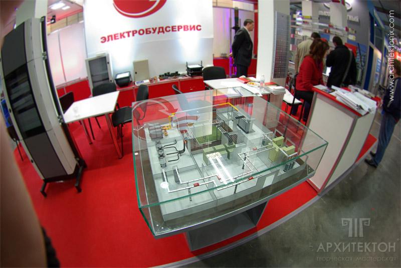 Макет на выставке «Еlcom» г. Киев, 3D печать