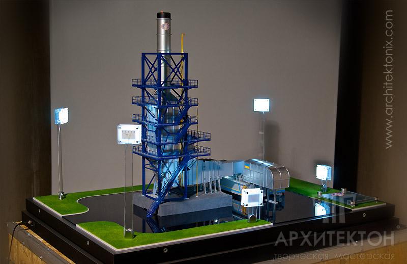 Макет топливно-энергетический комплекса ТЕК-6