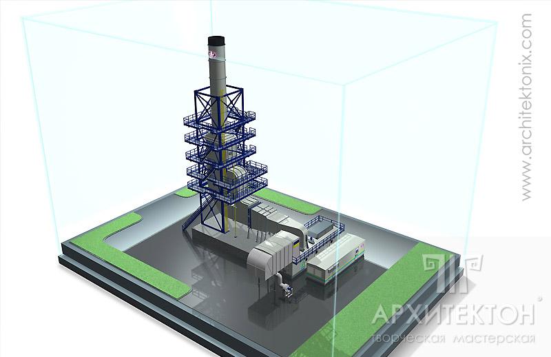 Предварительная визуализация макета топливно-энергетический комплекса ТЕК-6