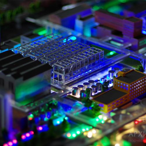 Макет завода с демонстрацией технологических цепочек
