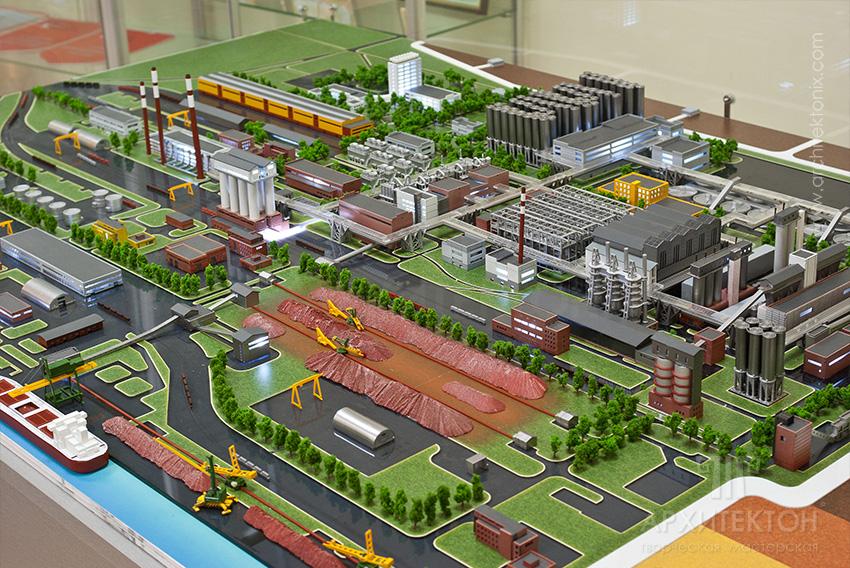 Макет Миколаївського глиноземного заводу