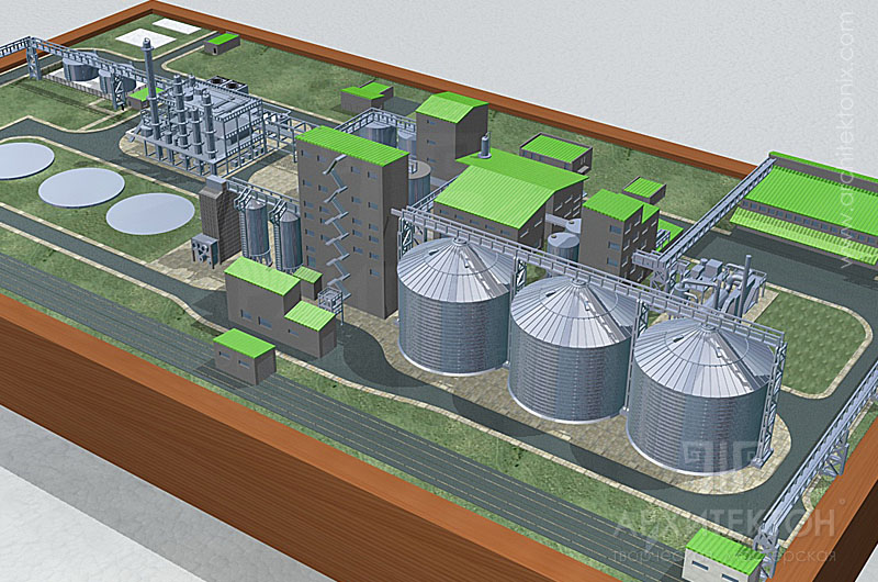 Visualization of model project, for reconciliation, 3D graphics