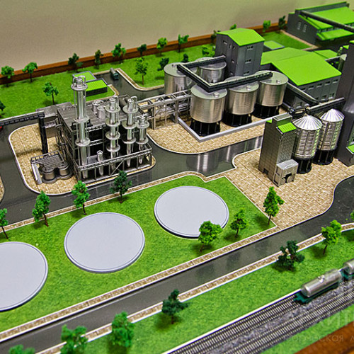 Architectural model of the plant, 3D printing