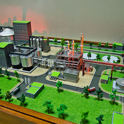 1:400 Scale Architectural model of the bioethanol plant