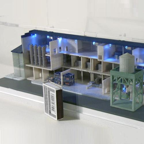 3Д печать макета завода