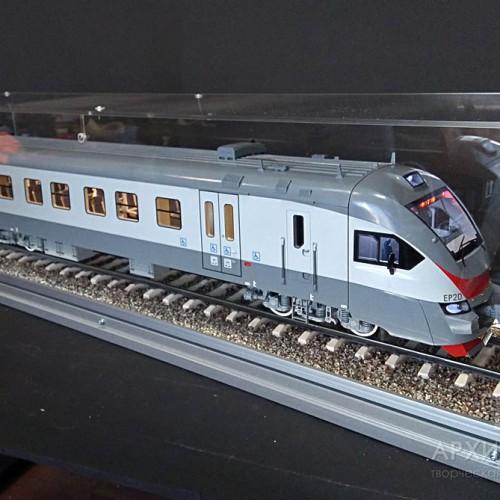 Изготовление макета головного вагона электрички