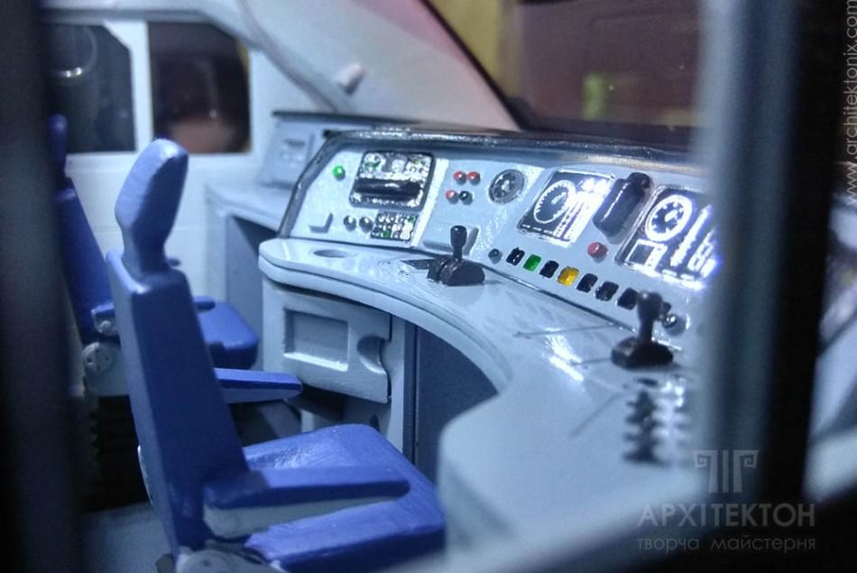 3D печать макет интерьера головного вагона электрички