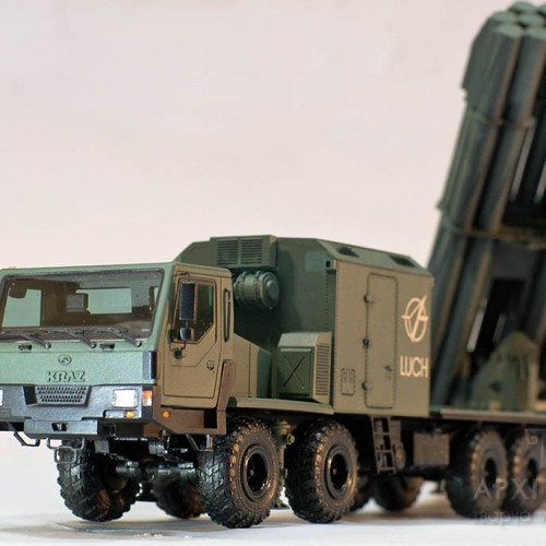 "Model launcher rocket system ""Vilkha"", exposition of Ukraine at the IDEX-2019 exhibition. 3d print"