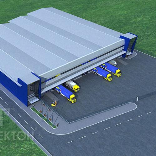 Проект офісно-складського комплексу в місті Києві