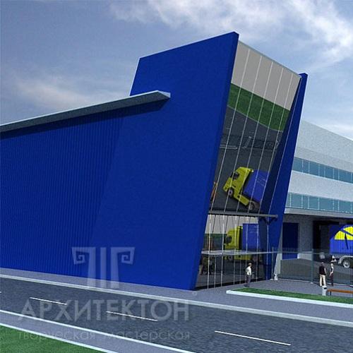 Проект офисно-складского комплекса в городе Киев