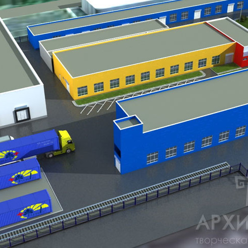 Draft design of the industrial - storage complex in the Irpin city